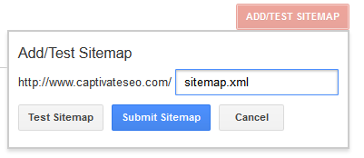 Add Sitemap Google Webmaster Tools